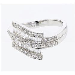 0.80 CTW Diamond Ring 18K White Gold - REF-88R2K