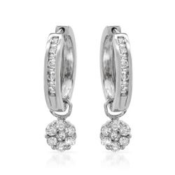 1 CTW Diamond Earrings 14K White Gold - REF-79Y2X