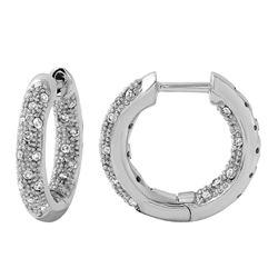 0.51 CTW Diamond Earrings 14K White Gold - REF-55R5K