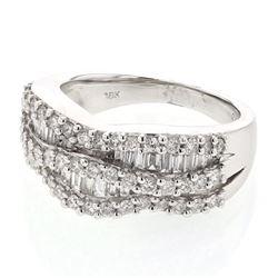 1.2 CTW Diamond Ring 18K White Gold - REF-146M2F