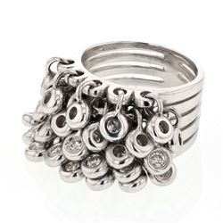 1.16 CTW Diamond Ring 14K White Gold - REF-168M7F