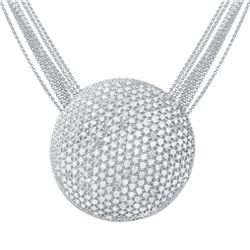 6.78 CTW Diamond Necklace 14K White Gold - REF-401R4K
