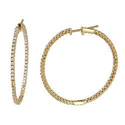1.3 CTW Diamond Earrings 14K Yellow Gold - REF-124H3M