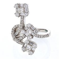 1.92 CTW Diamond Ring 18K White Gold - REF-269H2M