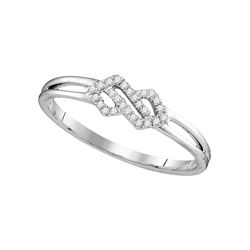 0.08 CTW Diamond Cluster Ring 10KT White Gold - REF-11M2H
