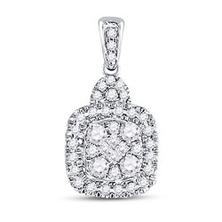 0.45 CTW Princess Diamond Soleil Square Dangle Earrings 14KT White Gold - REF-52W4K