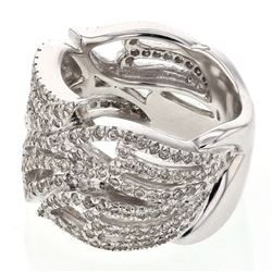 1.38 CTW Diamond Ring 14K White Gold - REF-130N3Y