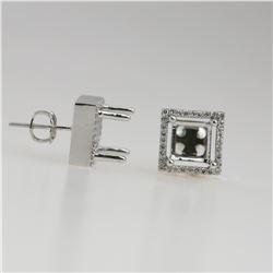 0.22 CTW Diamond Earrings 14K White Gold - REF-32R3K