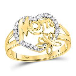 0.16 CTW Diamond Ring 10KT Yellow Gold - REF-22X5X