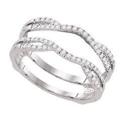0.33 CTW Diamond Wrap Ring 14KT White Gold - REF-48F7N