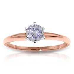 Genuine 0.35 ctw Diamond Anniversary Ring Jewelry 14KT Rose Gold - REF-110Z9N