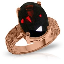 Genuine 6 ctw Garnet Ring Jewelry 14KT Rose Gold - REF-129H6X