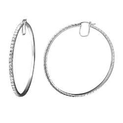 5.81 CTW Diamond Earrings 14K White Gold - REF-546X3R