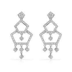 0.62 CTW Diamond Earrings 18K White Gold - REF-78R8K