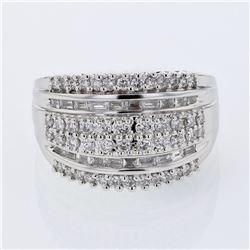 0.94 CTW Diamond Ring 18K White Gold - REF-134F2N