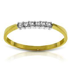 Genuine 0.10 ctw Diamond Anniversary Ring Jewelry 14KT Yellow Gold - REF-30A2K