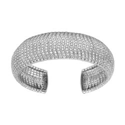 11.74 CTW Diamond Bangle 14K White Gold - REF-664F3N