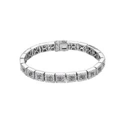11.04 CTW Pink Sapphire & Diamond Bracelet 14K White Gold - REF-336M2F