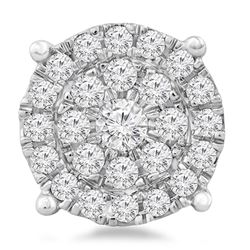 0.75 CTW Diamond Pendant 14K White Gold - REF-57H3M