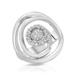 0.31 CTW Diamond Ring 18K White Gold - REF-74K3W