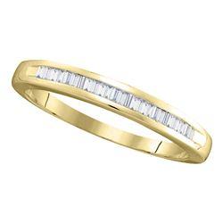 0.25 CTW Diamond Wedding Ring 14KT Yellow Gold - REF-18W2K