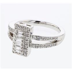 0.46 CTW Diamond Ring 14K White Gold - REF-69K2W