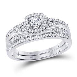 0.33 CTW Diamond Bridal Wedding Engagement Ring 10KT White Gold - REF-43N4F