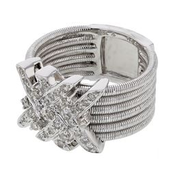 0.40 CTW Diamond Ring 18K White Gold - REF-125X6R