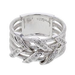 0.26 CTW Diamond Ring 18K White Gold - REF-94X2R
