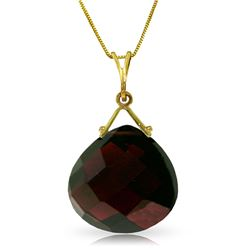 Genuine 8.5 ctw Garnet Necklace Jewelry 14KT Yellow Gold - REF-31M2T