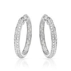 2.38 CTW Diamond Earrings 14K White Gold - REF-162H5M
