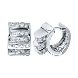 0.82 CTW Diamond Earrings 18K White Gold - REF-119X7R