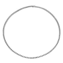 11.98 CTW Diamond Necklace 14K White Gold - REF-861N2Y