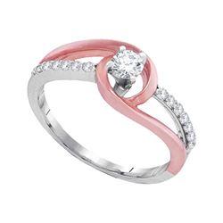 0.34 CTW Diamond Bridal Wedding Engagement Anniversary Ring 10KT White Gold - REF-44F9N