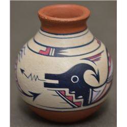 CHEMEHUEVI INDIAN POTTERY VASE (TERESA WILDFLOWER)
