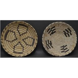 TWO PAPAGO INDIAN BASKETRY BOWLS