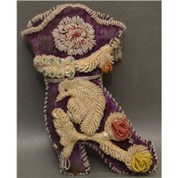 IROQUOIS INDIAN BEADED BOOT