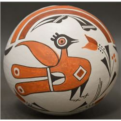 ACOMA INDIAN POTTERY SEED JAR (EMMA LEWIS)