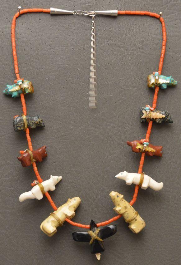 Indian fetish necklace old