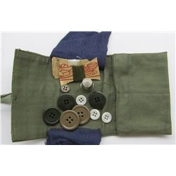 WWI US MILITARY SEWING KIT WITH BUTTONS.