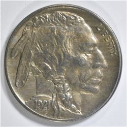 1921 BUFFALO NICKEL AU/BU