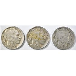 1926-P,D,S BUFFALO NICKELS