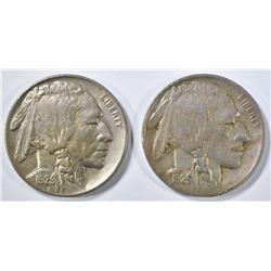 1929-D XF, & 29-S AU BUFFALO NICKELS