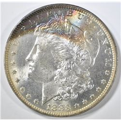 1883-O MORGAN DOLLAR CH BU RAINBOW