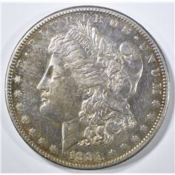 1883-S MORGAN DOLLAR CH AU NICE LUSTER STILL THERE