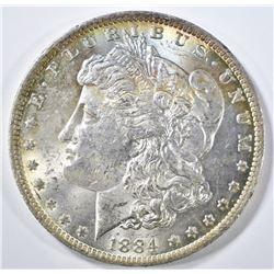 1884-O MORGAN DOLLAR CH BU COLOR