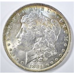 1884-O MORGAN DOLLAR CH BU COLOR