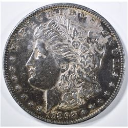 1892 MORGAN DOLLAR AU TONED
