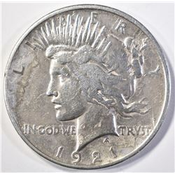 1921 PEACE DOLLAR  VF  CLEANED