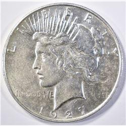 1927-D PEACE DOLLAR  AU/BU